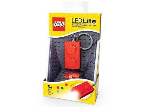 IQ LEGO piekariņš ar LED, sarkans