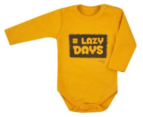 KOALA Bodijs LAZY DAYS 07-395, 68.izm   zaļgani dzeltena (sinepju)
