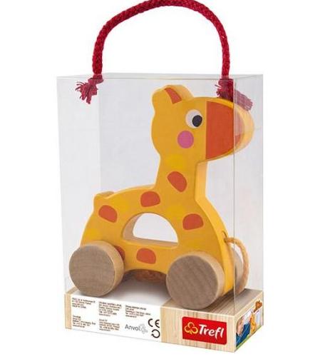 TREFL WOODEN TOYS Velkama rotaļlieta žirafe