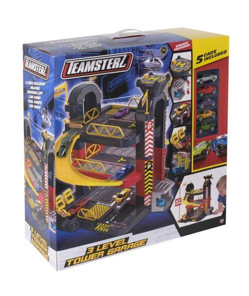 TZ rotaļlieta –  3″ Garāža 3 līmeņos + 5 auto