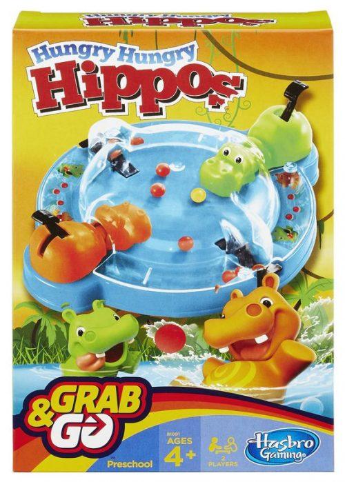 Hasbro Spēle HUNGRY HIPPO, ceļojumu formāts (BALTICS + RUS)