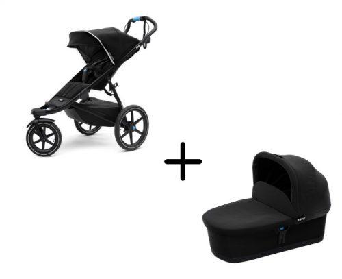 Bērnu rati un kulbiņa Thule Urban Glide2 BlackOnBlack