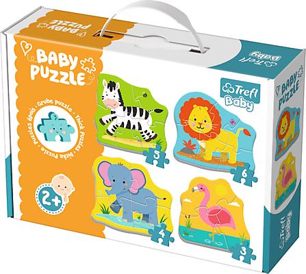 """Trefl Baby Mazuļu puzle """"Safari dzīvnieki"""""""
