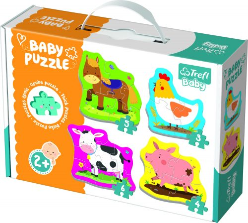 Trefl Baby Puzle Fermas dzīvnieki