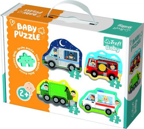 Trefl Baby Puzle Mašīnas