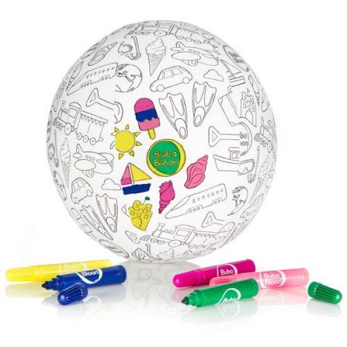 Bubabloon lateksa balons ar auduma pārvalku, Colour your own
