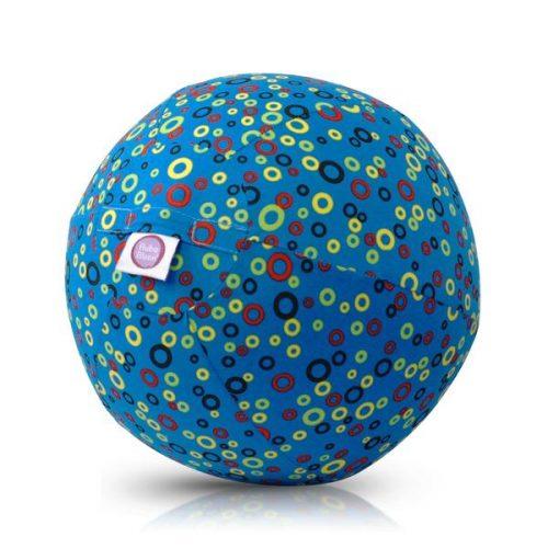 Bubabloon lateksa balons ar auduma pārvalku, Circles Blue