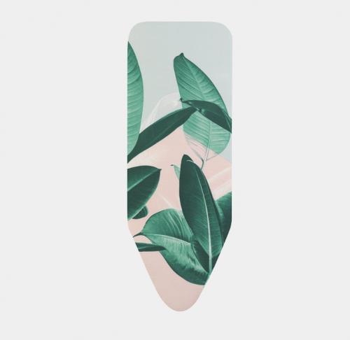BRABANTIA gludināmā dēļa pārvalks, 124×45 cm, Tropical Leaves (C) 4mm+ 4mm filcis