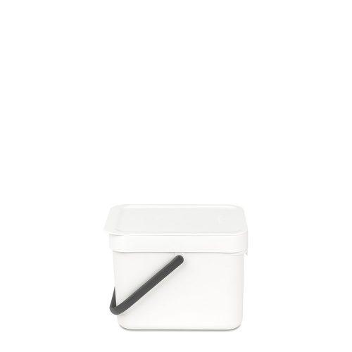 BRABANTIA atkritumu tvertne Sort & Go, 6 l, white