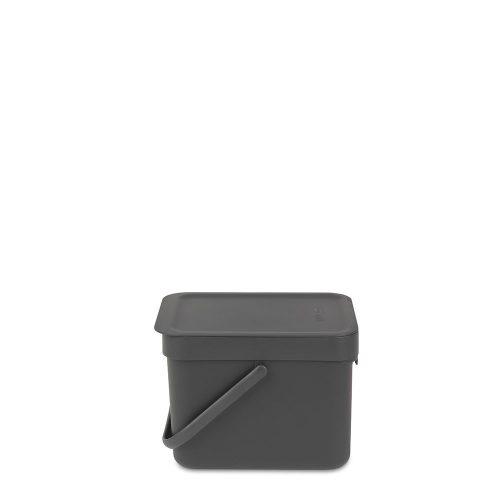 BRABANTIA atkritumu tvertne Sort & Go, 6 l, grey