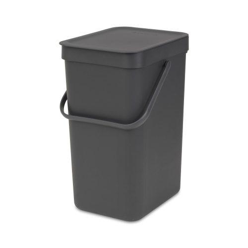 BRABANTIA atkritumu tvertne Sort & Go, 12 l, grey