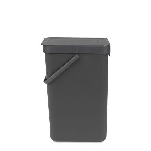 BRABANTIA atkritumu tvertne Sort & Go, 16 l, grey