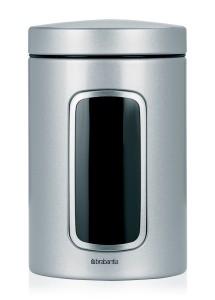 BRABANTIA kārba ar lodziņu,1.4 l Metallic Grey