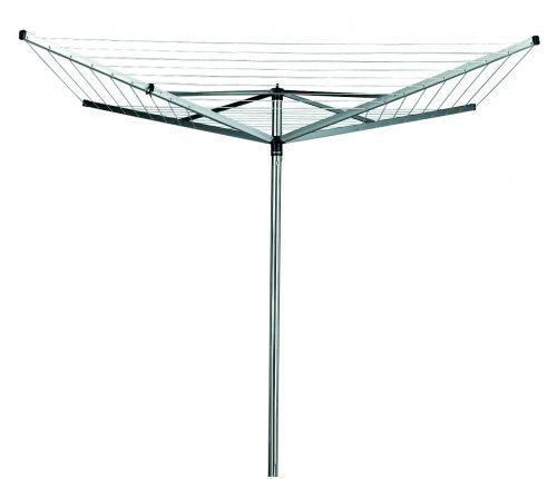 BRABANTIA rotējošs veļas žāvētājs Topspinner, 40m, 4 atzar., Metallic Grey