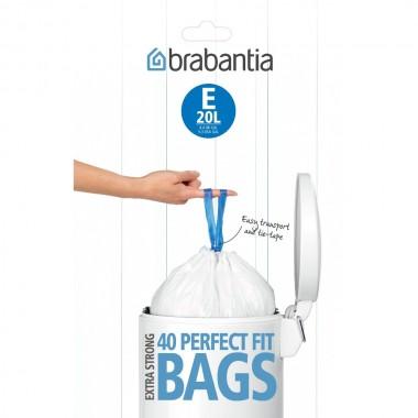 BRABANTIA atkritumu tvertņu maisiņi, 20 l, (E) (40 gab)