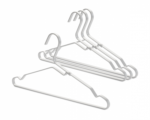 BRABANTIA alumīnija apģērbu pakaramie, 4gb, Silver