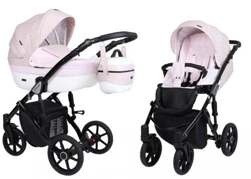 Kunert Lavado  bērnu rati  2 in 1 gaiši rozā ( rāmis gaišā vai melnā krāsā)
