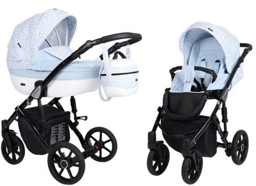 Kunert Lavado  bērnu rati  2 in 1 gaiši zils ( rāmis gaišā vai melnā krāsā)