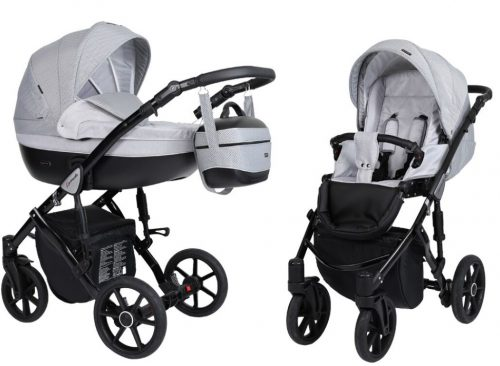 Kunert Lavado  bērnu rati  2 in 1 pelēks ( rāmis gaišā vai melnā krāsā)