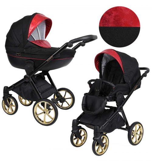 Kunert Talisman bērnu rati  2 in 1 ( melns + sarkans)