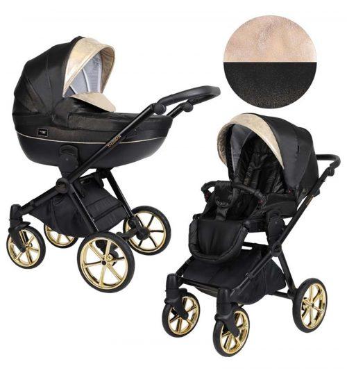 Kunert Talisman bērnu rati  2 in 1 ( melns + zelts)