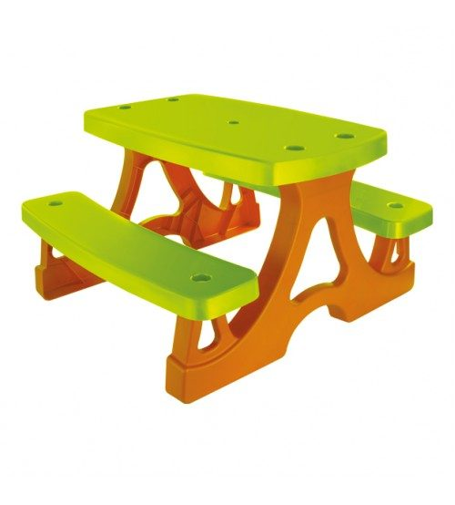 Mochtoys Plastmasas galds bērniem ar soliem 78x79x47cm