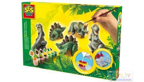 SES Ģipša figūras veidošanas komplekts Dinozauri