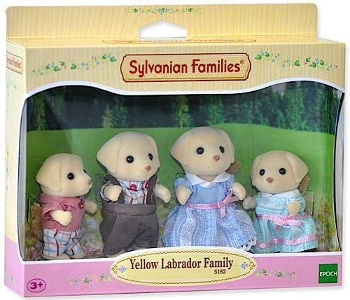 Sylvanian Families Dzelteno labradoru ģimene