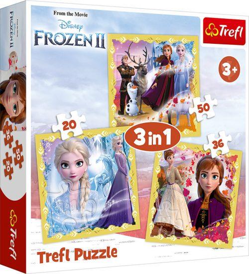 """TREFL Pužļu komplekts """"3 in 1"""" Frozen 2"""