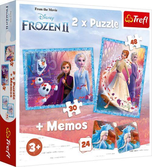 "TREFL Pužļu komplekts 30+48 un Memo 24 ""Frozen 2"""