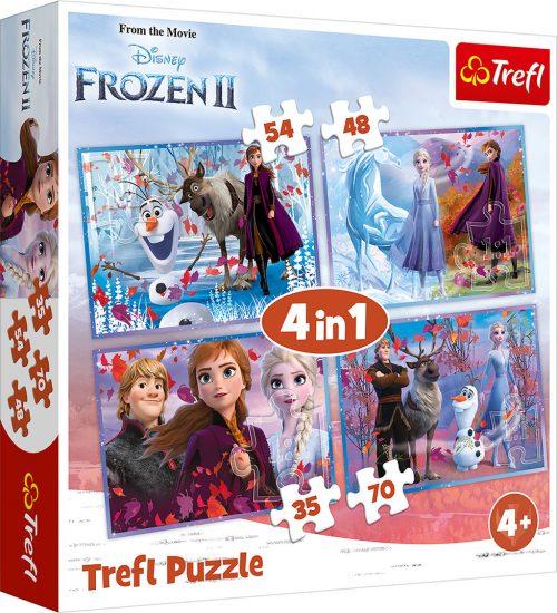 """TREFL Pužļu komplekts """"4 in 1"""" Frozen 2"""
