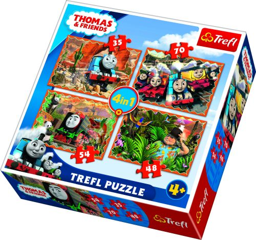 "TREFL Pužļu komplekts ""4 in 1"" Thomas"