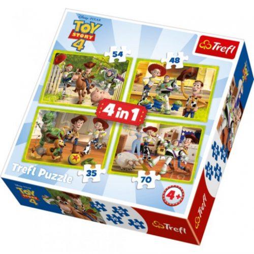 "TREFL Pužļu komplekts ""4 in 1"" Toys Story 4"