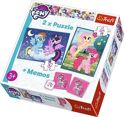 TREFL Puzles komplekts My Little Pony 30 gab + 48 gab + 24 memo