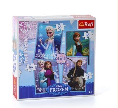Trefl Pužļu komplekts Frozen Ledus sirds 4in1 FROZEN