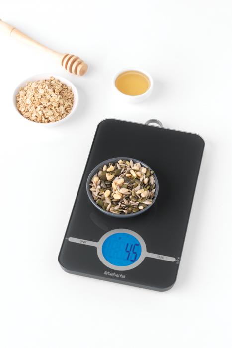 BRABANTIA digitālie virtuves svari, dark grey