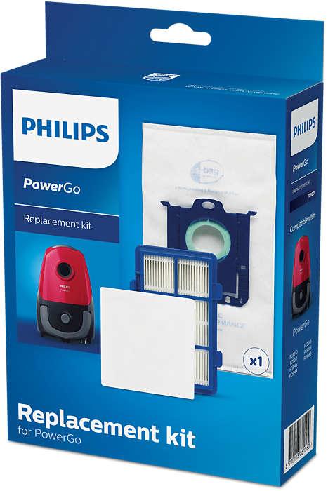 PHILIPS oriģinālais filtru nomaiņas komplekts putekļsūcējam