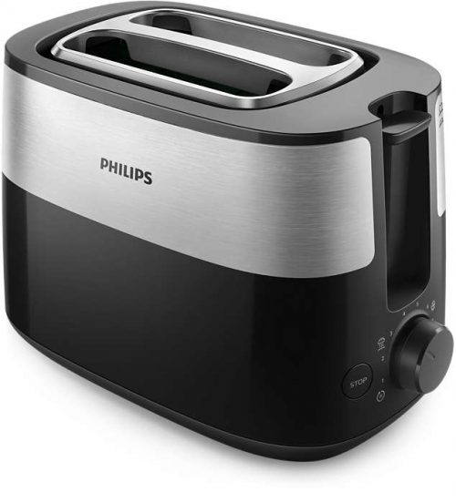PHILIPS Daily Collection Tosteris, 830 W (melns)