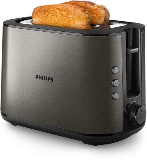 PHILIPS Viva Collection tosteris, melns