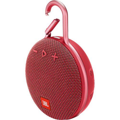 JBL ūdensizturīga portatīvā skanda ar karabīni, sarkana