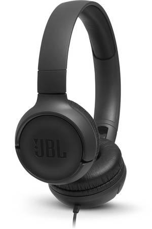 JBL on-ear austiņas ar mikrofonu, melnas