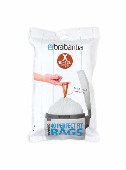 BRABANTIA atkritumu tvertņu maisiņi, 10-12  l, (X) (40 gab)
