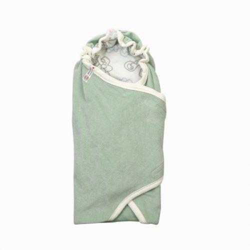 Lodger Wrapper Newborn Empire kokvilnas ietinamā sedziņa 2 in 1, Silt green