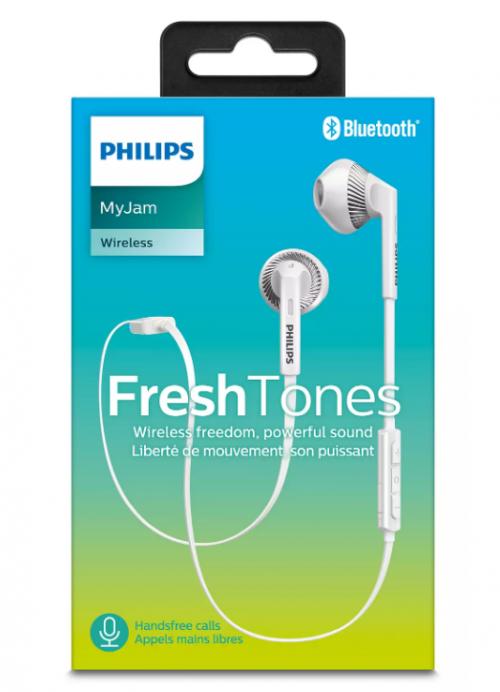 PHILIPS austiņas ar Bluetooth (baltas)
