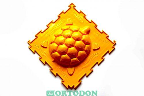 Ortopēdiskā puzle Turtle  (Stiff) 3 gab ( zaļs, oranžs, dzeltans)