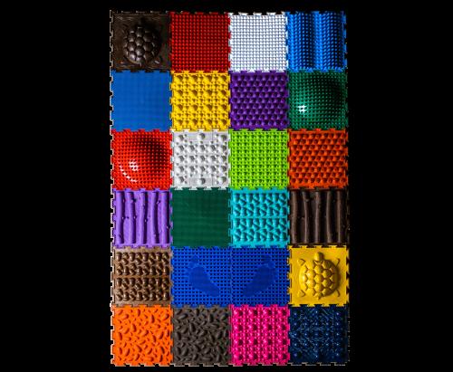 """Ortopēdiskais paklājiņš Komplekts """"Unikāla Kolekcija"""" komplektā 24 gab puzles."""