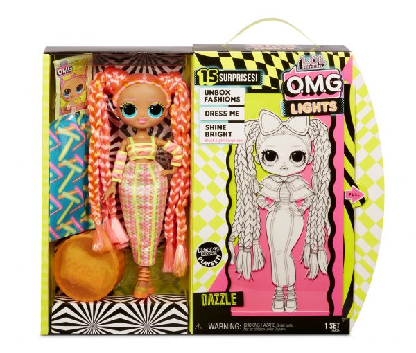 "MGA L.O.L. O.M.G Lights Surprise lelle ""Glitter Queen"""